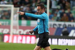 February 3, 2019 - Lisbon, Portugal - Referee Artur Soares Dias gestures during the Portuguese League football match Sporting CP vs SL Benfica at Alvalade stadium in Lisbon, Portugal on February 3, 2019. (Credit Image: © Pedro Fiuza/ZUMA Wire)
