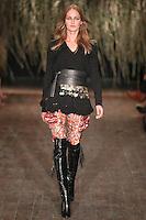 Karmen Pedaru walks down runway for F2012 Altuzarra's collection in Mercedes Benz fashion week in New York on Feb 10, 2012 NYC's