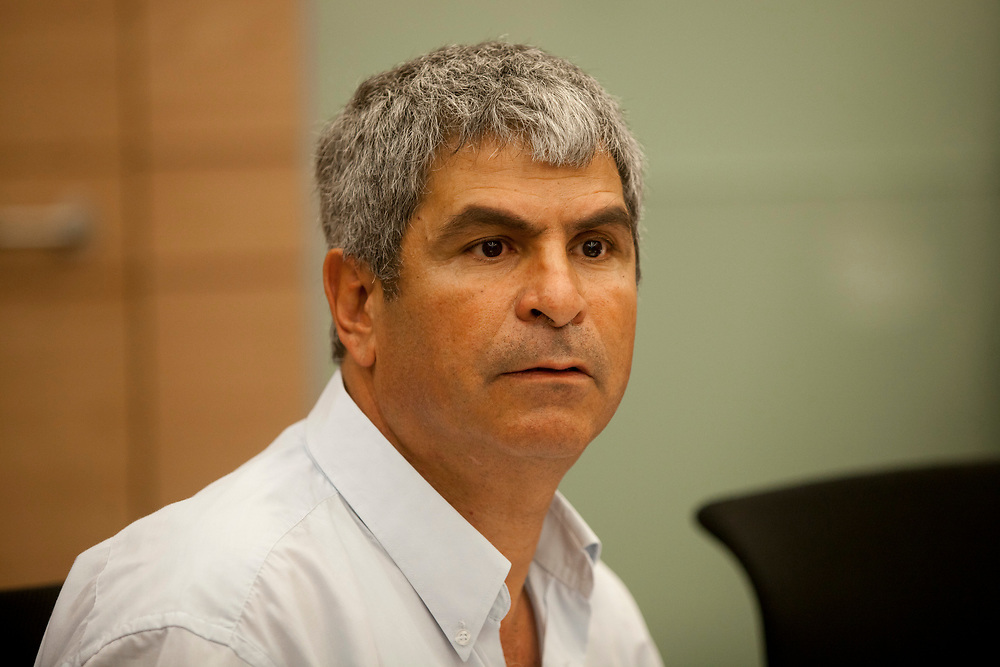 Jerusalem Deputy Mayor and chairman of the Jerusalem Planning and Building Committee Kobi Kahlon, attends a session of the Finance Committee at the Knesset, Israel's parliament in Jerusalem, on May 7, 2013.