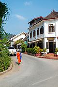 Morning street scene, Luang Prabang, Laos.