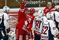 Ishockey , 15. november 2011 , Getligaen , Eliteserien , <br /> Stjernen - Lørenskog 1-6<br /> Göran Hermansson , Stjernen