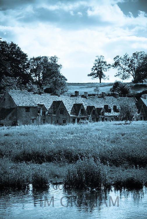Arlington Row Almshouses  cottages in Bibury, Cotswolds, England