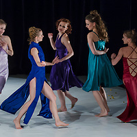Members of the Gangaray Dance Company perform their choreography Mein Kleiner Blumengarten in Budapest, Hungary on April 25, 2012. ATTILA VOLGYI
