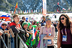 Mina Lavtizar, girlfriend of Peter Prevc and Lora Klinc, girlfriend of Primoz Roglic  during the Ski Flying Hill Team Competition at Day 3 of FIS Ski Jumping World Cup Final 2019, on March 23, 2019 in Planica, Slovenia. Photo by Masa Kraljic / Sportida
