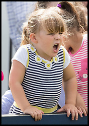 August 5, 2017 - United Kingdom - Image licensed to i-Images Picture Agency. 05/08/2017. Gatcombe Park, United Kingdom. The Queen's great-grand daughter  Mia Tindall  cheers on shetland ponies competing on the  second day of the Festival of British Eventing at Gatcombe Park, United Kingdom.  Picture by Stephen Lock / i-Images (Credit Image: © Stephen Lock/i-Images via ZUMA Press)