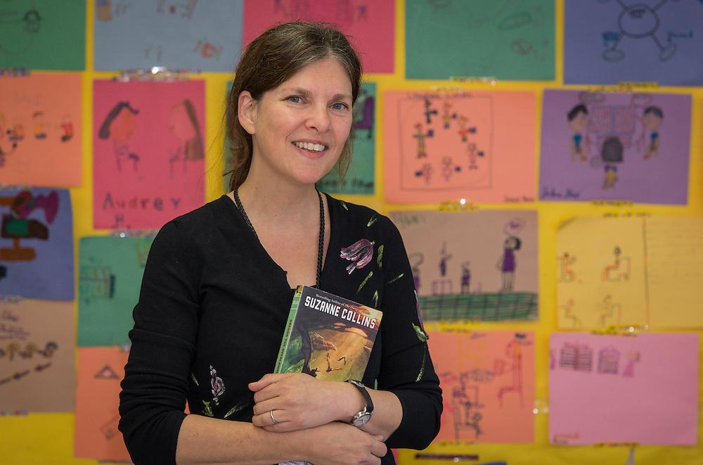 Jennifer Hannah poses for a photograph at Wainwright Elementary School, November 6, 2014.