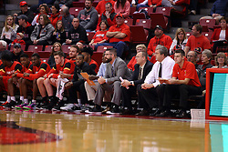 26 November 2016:  Bench, Ferris State during an NCAA  mens basketball game between the Ferris State Bulldogs the Illinois State Redbirds in a non-conference game at Redbird Arena, Normal IL