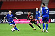 Junior Stanislas (19) of AFC Bournemouth on the attack during the EFL Sky Bet Championship match between Bournemouth and Nottingham Forest at the Vitality Stadium, Bournemouth, England on 24 November 2020.