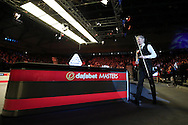 Neil Robertson (Aus) walks to the table as he is announced. Ronnie O'Sullivan (Eng) v Neil Robertson (Aus), Quarter-Final match at the Dafabet Masters Snooker 2017, at Alexandra Palace in London on Thursday 19th January 2017.<br /> pic by John Patrick Fletcher, Andrew Orchard sports photography.