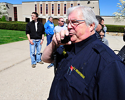 AJ Heightman, editor-in-chief of the Journal of Emergency Medical Services returns to Bethlehem Township to conduct a training seminar on mass casualty incidents on April  23, 2017, in Bethlehem Township. Heightman was also reunited with Rodney Barron who Heightman delivered as a premature baby 27 years ago. (Chris Post | lehighvalleylive.com contributor)