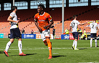 Blackpool's Armand Gnanduillet celebrates scoring his side's second goal <br /> <br /> Photographer Alex Dodd/CameraSport<br /> <br /> The EFL Sky Bet League One - Blackpool v Oxford United - Saturday 17th August 2019  - Bloomfield Road - Blackpool<br /> <br /> World Copyright © 2019 CameraSport. All rights reserved. 43 Linden Ave. Countesthorpe. Leicester. England. LE8 5PG - Tel: +44 (0) 116 277 4147 - admin@camerasport.com - www.camerasport.com