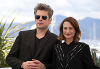 Benjamin Biolay and Camille Cottin at Room 212 (Chambre 212) film photo call at the 72nd Cannes Film Festival, Monday 20th May 2019, Cannes, France. Photo credit: Doreen Kennedy