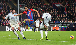 Crystal Palace Andros Townsend (centre) in action during the Premier League match at Selhurst Park, London.