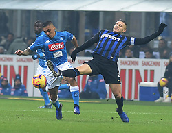 Italy, Bergamo -  December 24, 2018.Soccer - Football  Inter 1-0 win over Napoli .Miguel Allan of Napoli and Mauro Emanuel Icardi of Inter (Credit Image: © Ciro De Luca/Ropi via ZUMA Press)