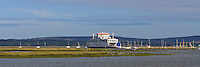 Wightlink ferry leaving lymington heading towards the isle of wight.