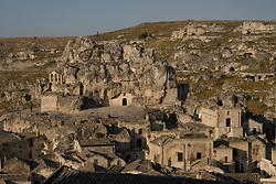 Matera, Basilicata, Italy - The rupetrian church of St. Maria de Idris (1200), all carved in the rock.