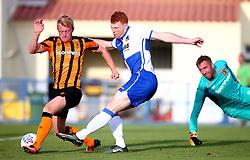 Rory Gaffney of Bristol Rovers scores a goal - Mandatory by-line: Robbie Stephenson/JMP - 18/07/2017 - FOOTBALL - Estadio da Nora - Albufeira,  - Hull City v Bristol Rovers - Pre-season friendly