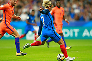 France's forward Antoine Griezmann scores during the FIFA World Cup Russia 2018, Qualifying Group A football match between France and Netherlands on August 31, 2017 at the Stade de France in Saint-Denis, north of Paris, France - Photo Benjamin Cremel / ProSportsImages / DPPI