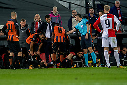 17-10-2017 NED, UEFA CL, Feyenoord - FC Shakhtar Donetsk, Rotterdam<br /> UEFA Champions League Round of 16, 3rd Leg match between Feyenoord vs. Donetsk at the stadion DE Kuip in Rotterdam / Coach Giovanni van Bronckhorst