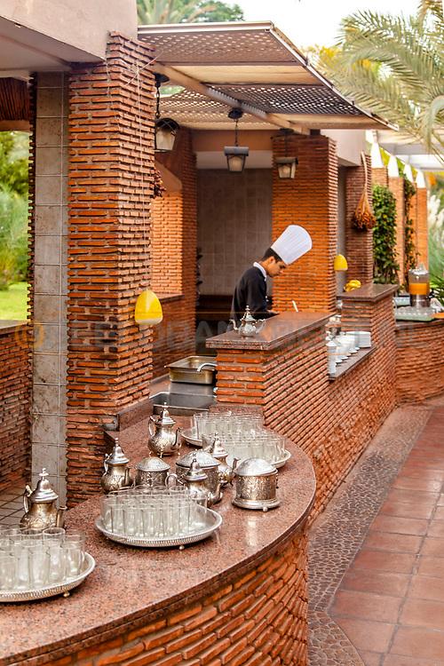 06-10-2015 -  Foto van Theeservies bij Pullman Marrakech Palmeraie Resort and Spa in Marrakech, Marokko.