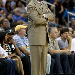 April 8, 2011; New Orleans, LA, USA; Phoenix Suns head coach Alvin Gentry against the New Orleans Hornets during the fourth quarter at the New Orleans Arena. The Hornets defeated the Suns 109-97.   Mandatory Credit: Derick E. Hingle