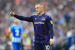 15 October 2017 -  Premier League - Brighton and Hove Albion v Everton - Wayne Rooney of Everton gives a thumbs up - Photo: Marc Atkins/Offside