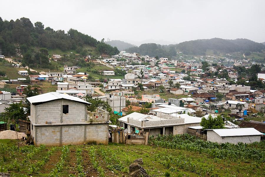 The Tzotzil Mayan village of San Juan Chamula, outside of San Cristobal de las Casas, Chiapas state, Mexico on June 24, 2008.