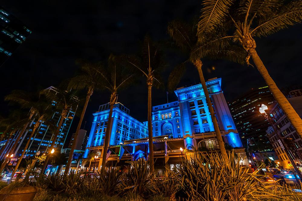 U. S. Grant Hotel, Gaslamp Quarter, Downtown San Diego, California USA.