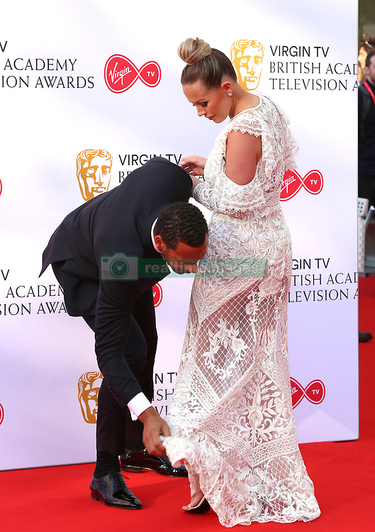 Rio Ferdinand and Kate Wright attending the Virgin TV British Academy Television Awards 2018 held at the Royal Festival Hall, Southbank Centre, London.