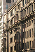 Architectural photograph with view of the facade of an old building, Shanghai, China