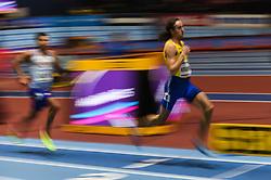 March 2, 2018 - Birmingham, England, United Kingdom - Andreas Kramer ofSweden at 800 meter semi final at World indoor Athletics Championship 2018, Birmingham, England on March 2, 2018. (Credit Image: © Ulrik Pedersen/NurPhoto via ZUMA Press)
