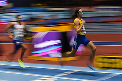 March 2, 2018 - Birmingham, England, United Kingdom - Andreas Kramer of Sweden at 800 meter semi final at World indoor Athletics Championship 2018, Birmingham, England on March 2, 2018. (Credit Image: © Ulrik Pedersen/NurPhoto via ZUMA Press)