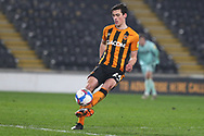 Jacob Greaves during the EFL Sky Bet League 1 match between Hull City and Rochdale at the KCOM Stadium, Kingston upon Hull, England on 2 March 2021.