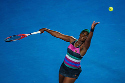 January 19, 2019 - Melbourne, VIC, U.S. - MELBOURNE, VIC - JANUARY 18: SLOANE STEPHENS (USA) during day five match of the 2019 Australian Open on January 18, 2019 at Melbourne Park Tennis Centre Melbourne, Australia (Photo by Chaz Niell/Icon Sportswire) (Credit Image: © Chaz Niell/Icon SMI via ZUMA Press)