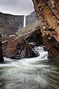 Hengifoss waterfall in East-Iceland. It is about 30 minute drive from Egilsstadir.