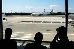 Plane with Primoz Roglic, Olympic gold medalist during his arrival from Tokyo 2020 on July 30, 2021 in<br />  Airport Joze Pucnik, Brnik, Ljubljana, Slovenia. Photo by Matic Klansek Velej / Sportida