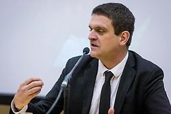 Portrait of Gregory Schneider, France journalist, on March 14, 2018 in Mestni Muzej, Ljubljana, Slovenia. Photo by Ziga Zupan / Sportida