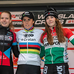 21-12-2019: Cycling : Waaslandcross Sint Niklaas: Sanne Cant(BEL) wins the Waaslandcross after a close battle with Anniek van Alphen (NED) and 19 year old Kata Blanka Vas(HUN)