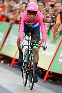 Rigoberto Uran (COL - EF Education First - Drapac) during the UCI World Tour, Tour of Spain (Vuelta) 2018, Stage 1, individual time trial, Malaga - Malaga (8km) in Spain, on August 26th, 2018 - Photo Luis Angel Gomez / BettiniPhoto / ProSportsImages / DPPI