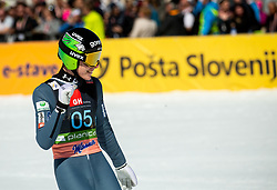 Timi Zajc (SLO) reacts during the Ski Flying Hill Team Competition at Day 3 of FIS Ski Jumping World Cup Final 2019, on March 23, 2019 in Planica, Slovenia. Photo by Vid Ponikvar / Sportida