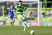 Forest Green Rovers Paul Digby(20) passes the ball forward during the EFL Sky Bet League 2 match between Forest Green Rovers and Milton Keynes Dons at the New Lawn, Forest Green, United Kingdom on 30 March 2019.
