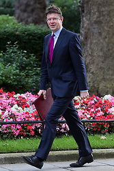Communities Secretary Greg Clark arrives at Prime Minister David Cameron's final cabinet meeting following Theresa May's anticipated takeover as Leader of the Conservative Party and Prime Minister