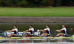 Great Britain's John Collins, Jonathan Walton, Graeme Thomas and Thomas Barras in the Men's Quadruple Sculls heat one during day one of the 2018 European Championships at the Strathclyde Country Park, North Lanarkshire.