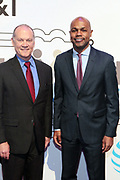 New York, NY-March 15: (L-R) John Donovan, CEO, AT&T Communications and Nasir Qadree, Associate Director of Social Investments attend the 2018 'Humanity of Connection' Awards Ceremony powered by AT&T and held at Jazz at Lincoln Center on March 15, 2018 in New York City. (Photo by Terrence Jennings/terrencejennings.com)