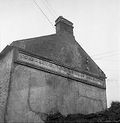 Limerick Widows Alms House. Corporation Widows Alms House A.D. 1691 reads the notice on the gable end of the house..28.03.1962