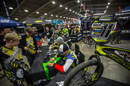 Chase Bicycles riders Connor Fields (USA), Romain Mahieu (FRA) and Joris Daudet (FRA)  signing autographs at the USA BMX Grand Nationals in Tulsa, Oklahoma