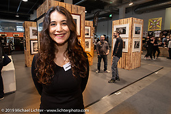 Jeni Graf worked the Lichter photo display at the Swiss-Moto Customizing and Tuning Show. Zurich, Switzerland. Saturday, February 23, 2019. Photography ©2019 Michael Lichter.