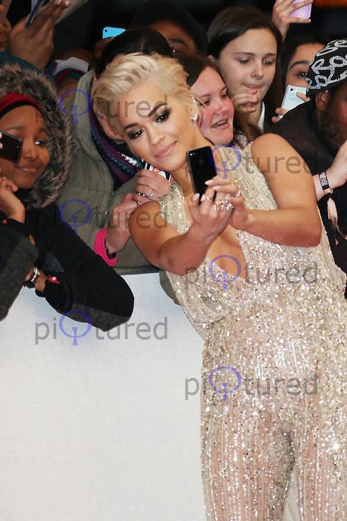 Rita Ora, The BRIT Awards, The O2, London UK, 25 February 2015, Photo by Richard Goldschmidt
