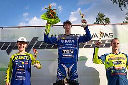 Winners of MX2 during Slovenian Championship in Motocross, on June 2nd, 2019 in Orehova Vas, Slovenia. Photo by Blaž Weindorfer / Sportida