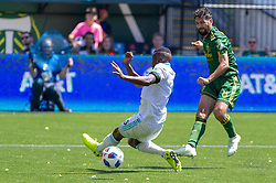 May 13, 2018 - Portland, OR, U.S. - PORTLAND, OR - MAY 13: Portland Timbers midfielder Diego Valeri takes a shot on goal that goes wide during the Portland Timbers 1-0 victory over the Seattle Sounders on May 13, 2018, at Providence Park in Portland, OR. (Photo by Diego Diaz/Icon Sportswire) (Credit Image: © Diego Diaz/Icon SMI via ZUMA Press)